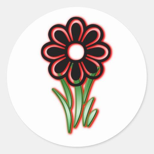Flowerchild Pegatina Redonda