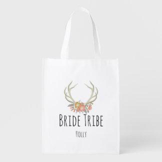 Flowered Antler-Reusable Bag