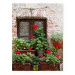 flowered balcony postcard