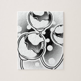 Flowered barbell tattoo design jigsaw puzzle