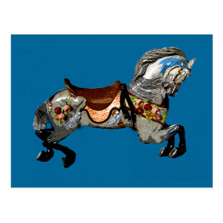 Flowered Carousel Horse gifts & greetings Postcard