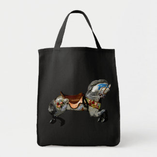 Flowered Carousel Horse gifts & greetings Tote Bag