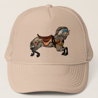 Flowered Carousel Horse gifts & greetings Trucker Hat