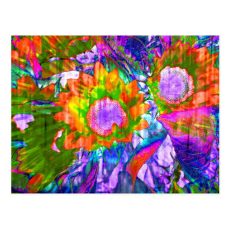 Flowered colors postcards
