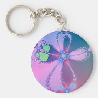 Flowered Cross Keychain