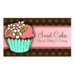 Flowered Cupcake Business Card