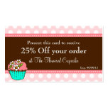 Flowered Cupcake Coupon Card Double-Sided Standard Business Cards (Pack Of 100)