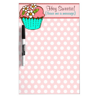 Flowered Cupcake Dry Erase Board