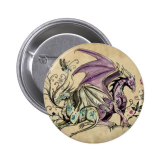 Flowered dragons - pins