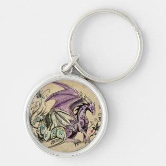 Flowered dragons - keychain