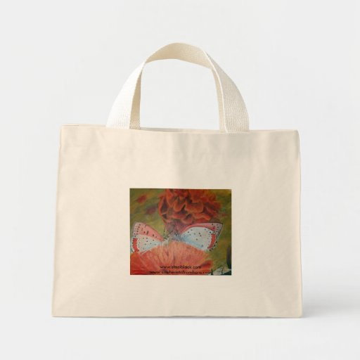 Flowered Eco Friendly Butterfly Tote Canvas Bag