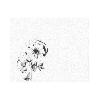 Flowered fabric canvas print