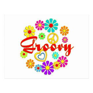 Flowered Groovy Postcard