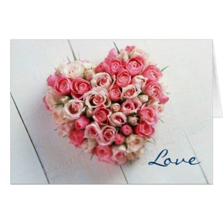 Flowered Heart Valentine Greeting Card