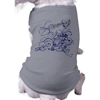 Flowered Love Dog Shirt