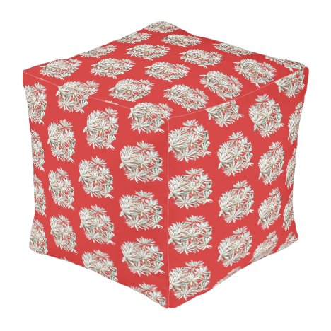 Flowered Outdoor Pouf