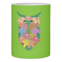 Flowered Owl Flameless Candle