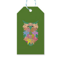 Flowered Owl Gift Tags