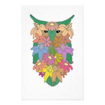 Flowered Owl Stationery