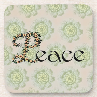 Flowered Peace Beverage Coaster