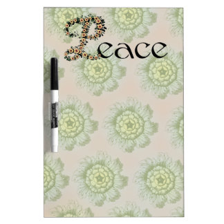 Flowered Peace Dry Erase Board