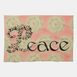 Flowered Peace Hand Towels
