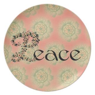 Flowered Peace Plate
