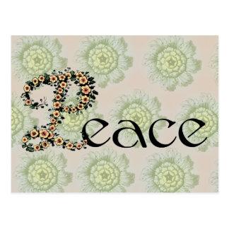 Flowered Peace Postcard