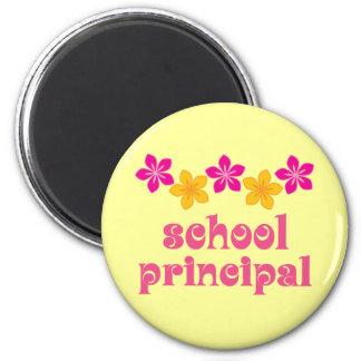 Flowered School Principal Magnet
