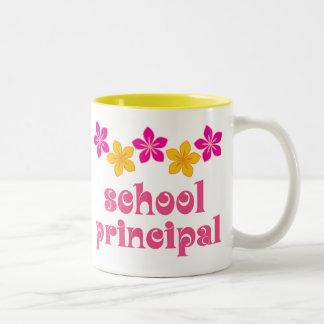 Flowered School Principal Coffee Mug