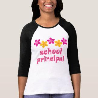Flowered School Principal T Shirt