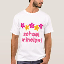 Flowered School Principal T-Shirt