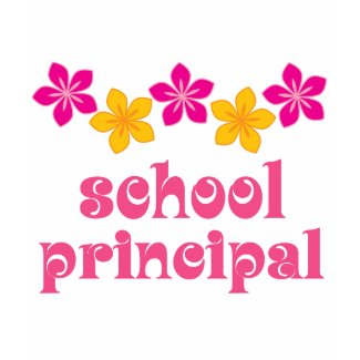 Flowered School Principal shirt