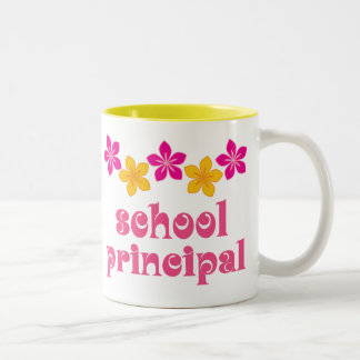 Flowered School Principal Two-Tone Coffee Mug
