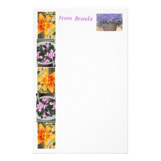 Flowered stationery    .... from Brenda    ST3