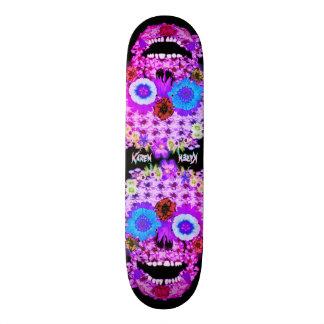 Flowered Sugar Skull Skateboard Deck