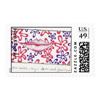 Flowered Void, Nico Kwan Art Stamp