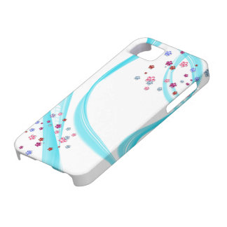 flowerettes with blue flair iPhone SE/5/5s case