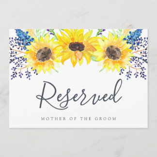 "Flowerfields ""Reserved"" Wedding Sign"