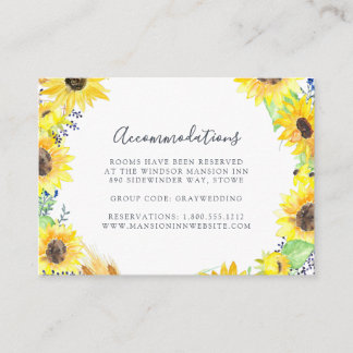 Flowerfields | Wedding Hotel Accommodation Cards