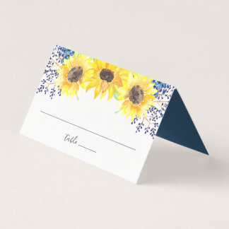Flowerfields Wedding Place Card