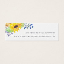 Flowerfields Wedding Website RSVP Cards