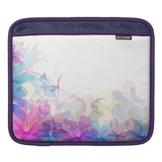 Flowerful Butterfly Abstract iPad Sleeve