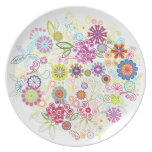 Flowerful Dinner Plates