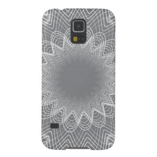Flowerful Guilloche Greys Case For Galaxy S5