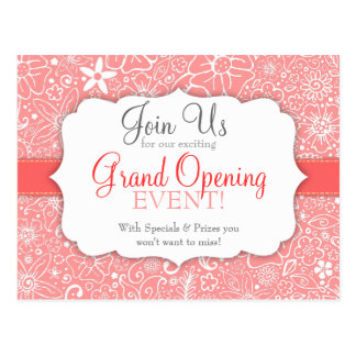 Flowerful Pink Custom Special Event Postcard