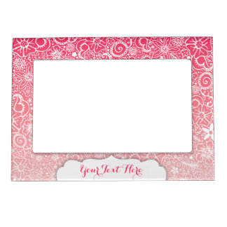 Flowerful Pink Ombre Custom Magnetic Frame
