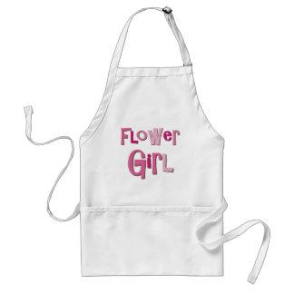 FlowerGirl Brown rosado Delantal