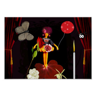 Flowergirl chino, poster
