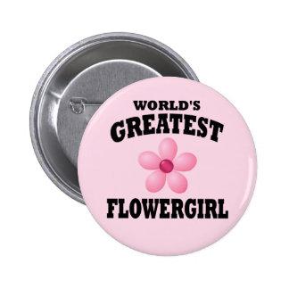 Flowergirl más grande del mundo pin